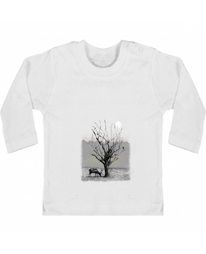 T-shirt Bébé Manches Longues Boutons Pression The view manches longues du designer Florent Bodart
