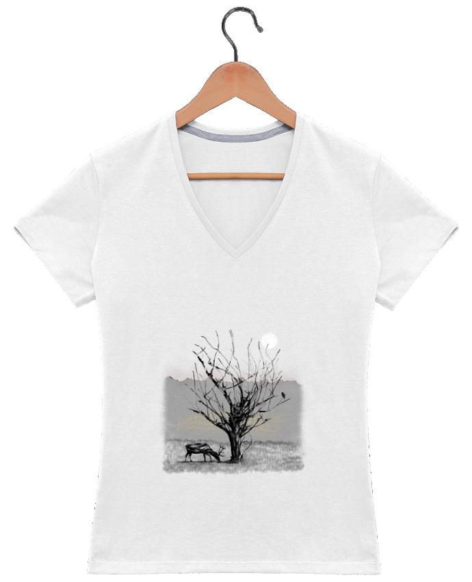 T-shirt Col V Femme 180 gr The view par Florent Bodart