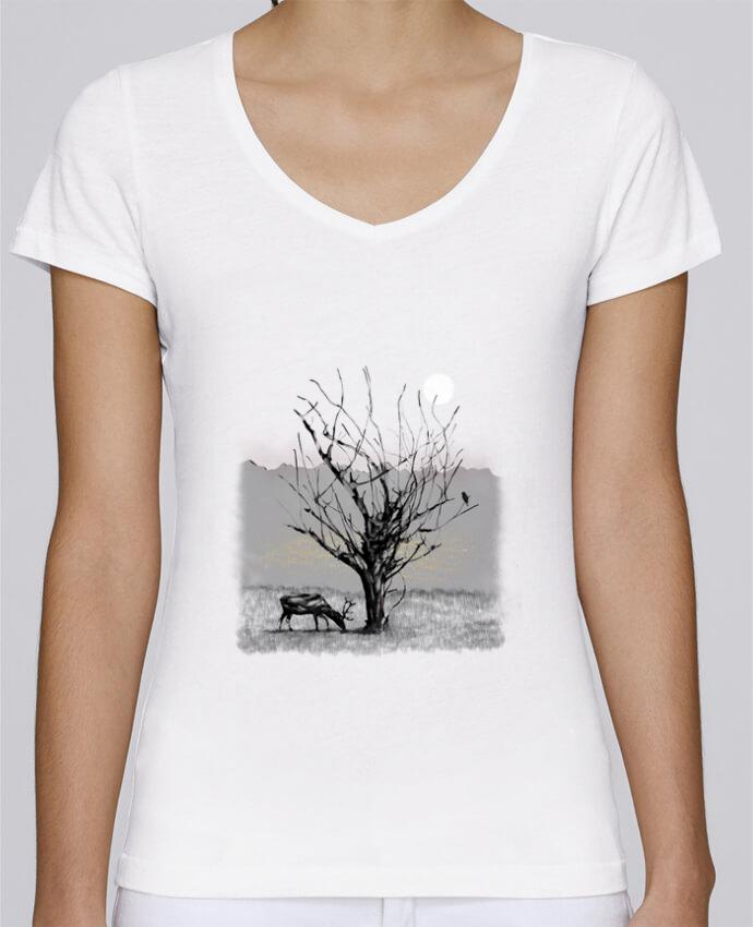 T-shirt Femme Col V Stella Chooses The view par Florent Bodart