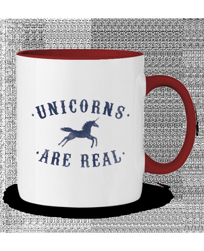 Mug en Céramique Bicolore Unicorns are real Florent Bodart