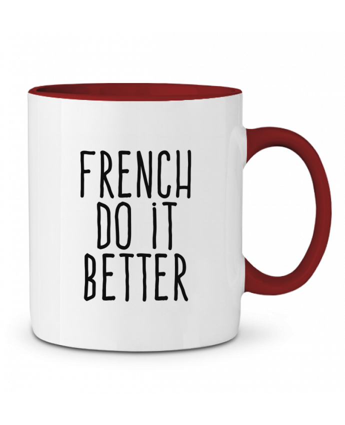 Mug en Céramique Bicolore French do it better justsayin