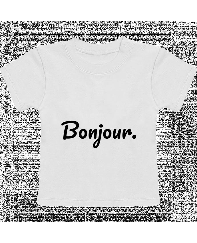 T-Shirt Bébé Manches Courtes Bonjour. manches courtes du designer tunetoo