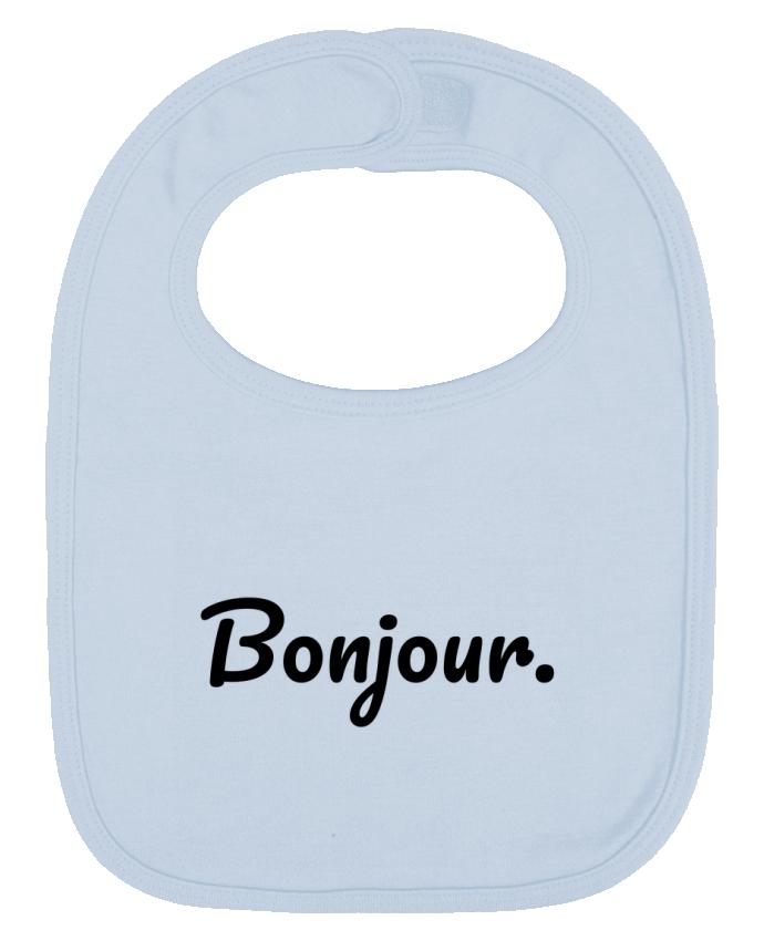 Bavoir Uni et Contrasté Bonjour. par tunetoo