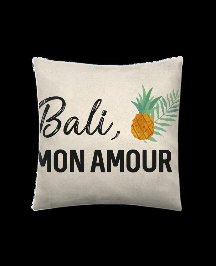 Coussin Toucher Peau de Pêche 41 x 41 cm Bali, mon amour par IDÉ'IN