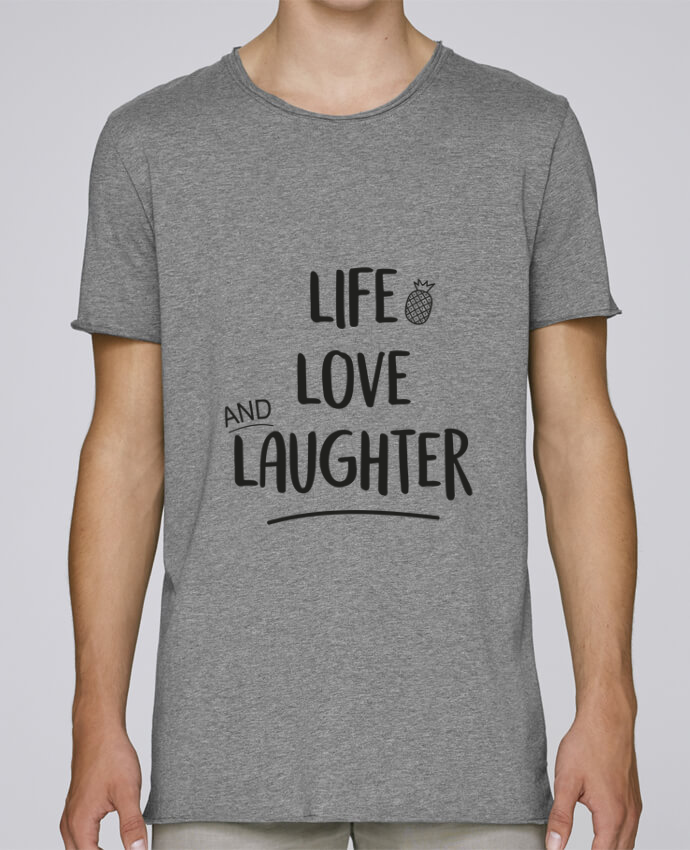 T-shirt Homme Oversized Stanley Skates Life, love and laughter... par IDÉ'IN