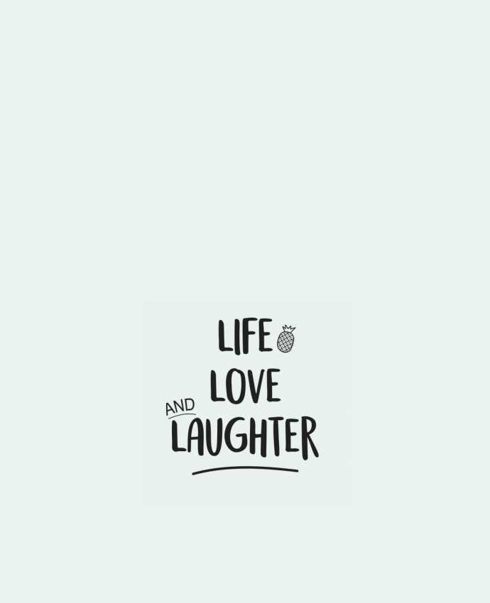 Sac en Toile Coton Life, love and laughter... par IDÉ'IN