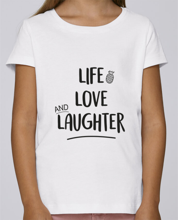 T-shirt Fille Mini Stella Draws Life, love and laughter... par IDÉ'IN