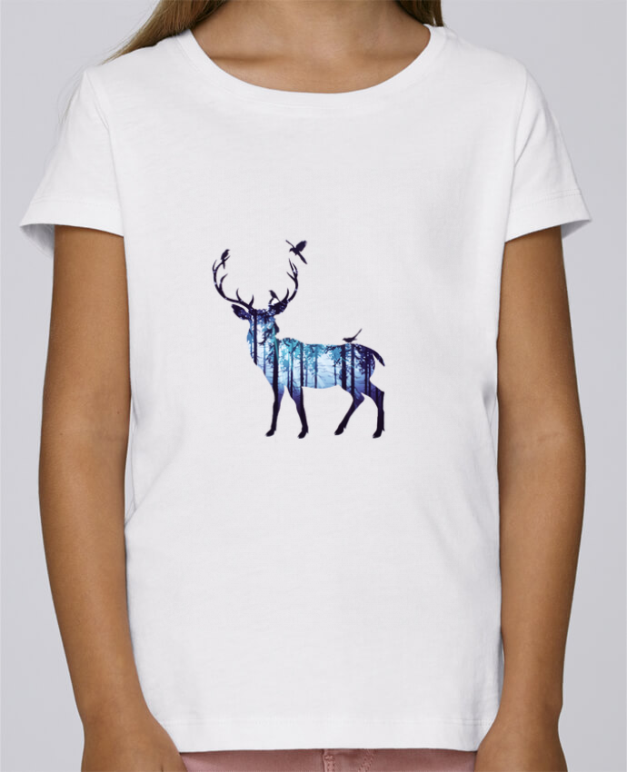 T-shirt Fille Mini Stella Draws Deer par Likagraphe