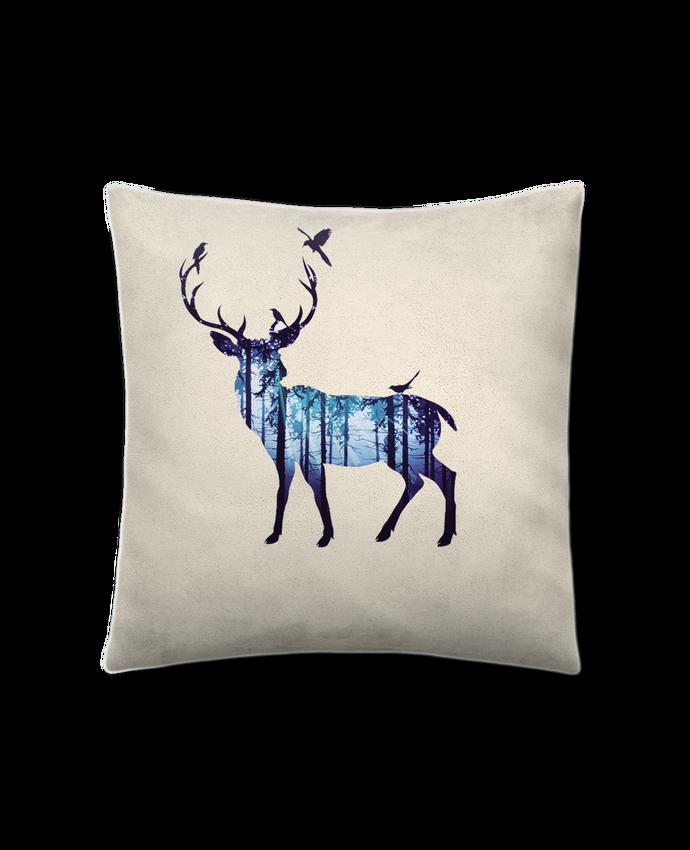 Coussin Toucher Peau de Pêche 41 x 41 cm Deer par Likagraphe