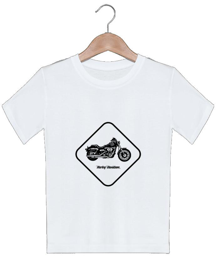 T-shirt garçon motif Harley Davidson Likagraphe