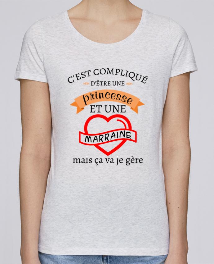 T-shirt Femme Stella Loves C'est compliqué d'être une princesse et une marraine mais ça va je gère par tunetoo