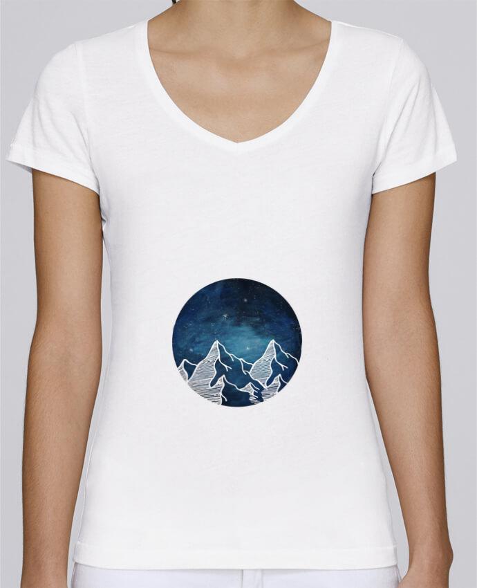T-shirt Femme Col V Stella Chooses Canadian Mountain par Likagraphe