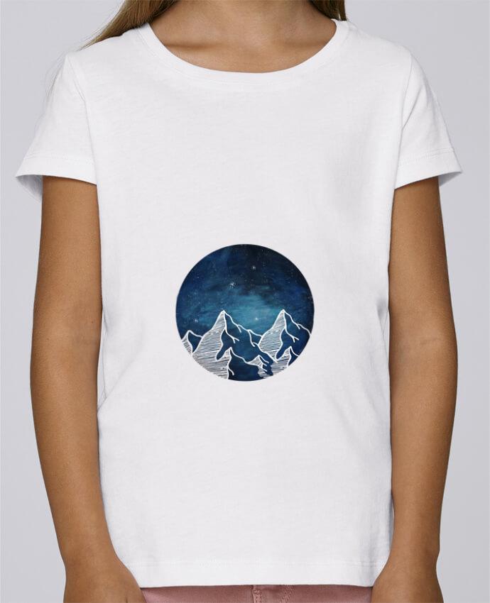 T-shirt Fille Mini Stella Draws Canadian Mountain par Likagraphe