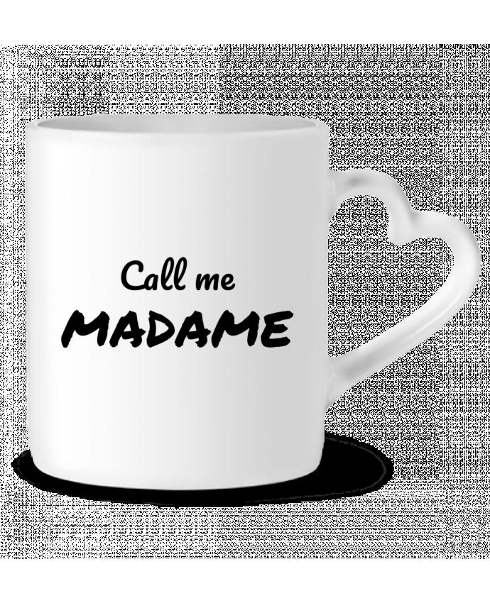 Mug Coeur Call me MADAME par Madame Loé
