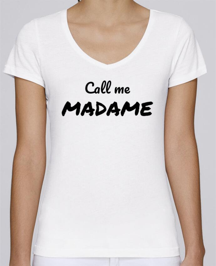 T-shirt Femme Col V Stella Chooses Call me MADAME par Madame Loé