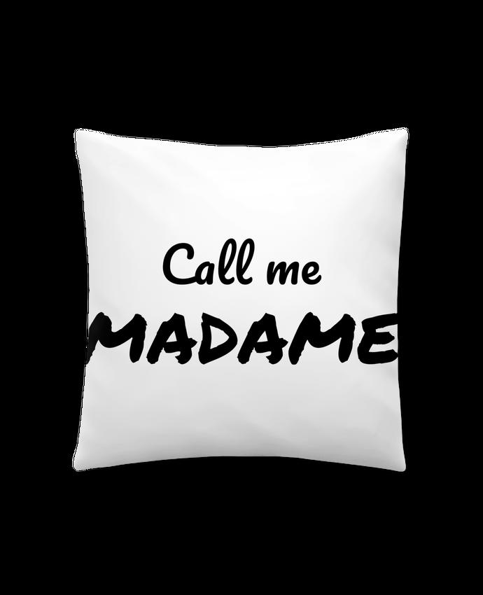 Coussin Synthétique Doux 41 x 41 cm Call me MADAME par Madame Loé