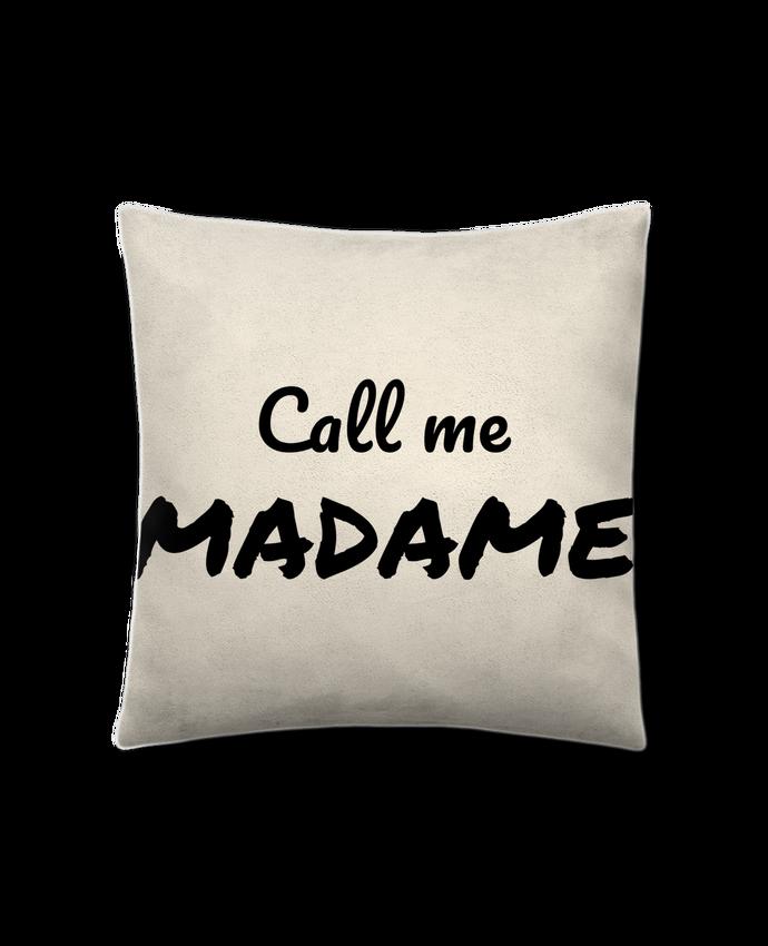 Coussin Toucher Peau de Pêche 41 x 41 cm Call me MADAME par Madame Loé
