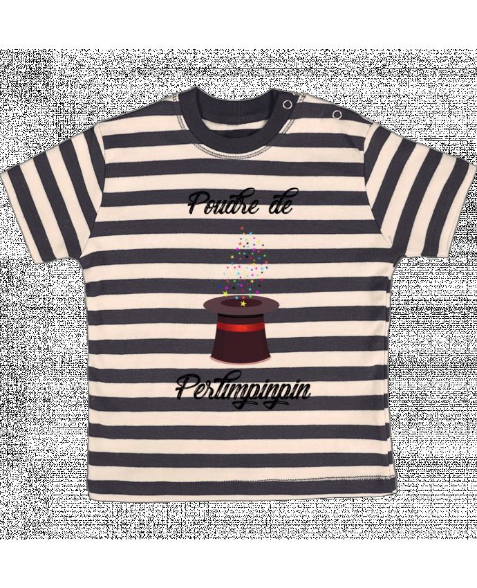 T-shirt Bébé à Rayures Poudre de Perlimpinpin VS Merlin par tunetoo