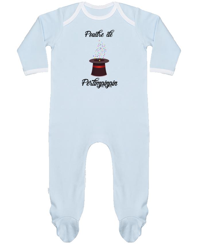 Pyjama Bébé Manches Longues Contrasté Poudre de Perlimpinpin VS Merlin par tunetoo