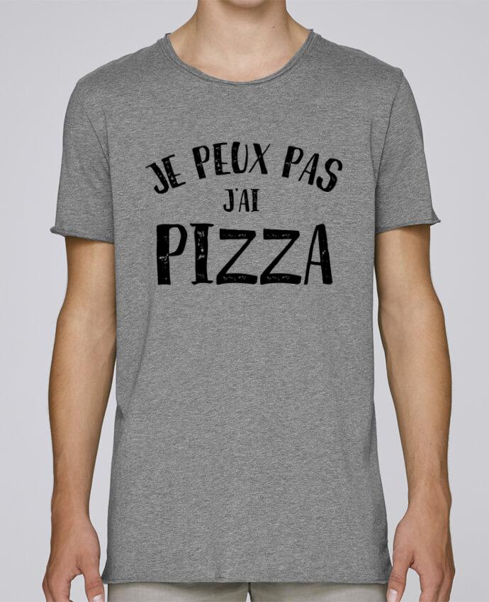 T-shirt Homme Oversized Stanley Skates Je peux pas j'ai Pizza par NumericEric