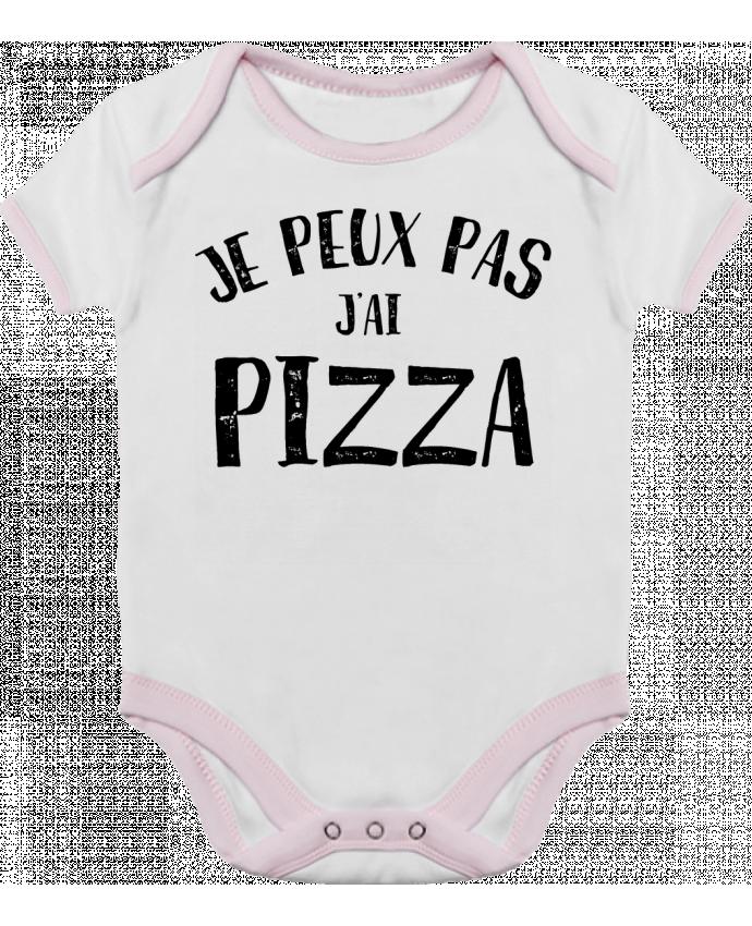 Body Bébé Contrasté Je peux pas j'ai Pizza par NumericEric