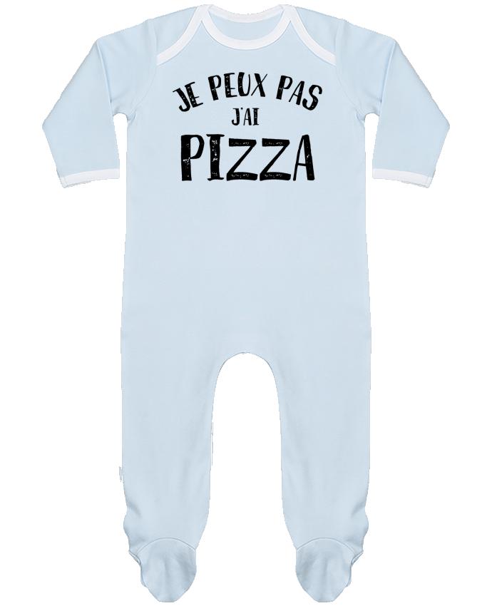 Pyjama Bébé Manches Longues Contrasté Je peux pas j'ai Pizza par NumericEric