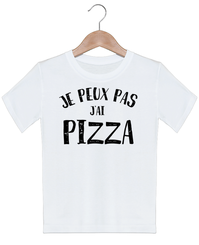 T-shirt garçon motif Je peux pas j'ai Pizza NumericEric