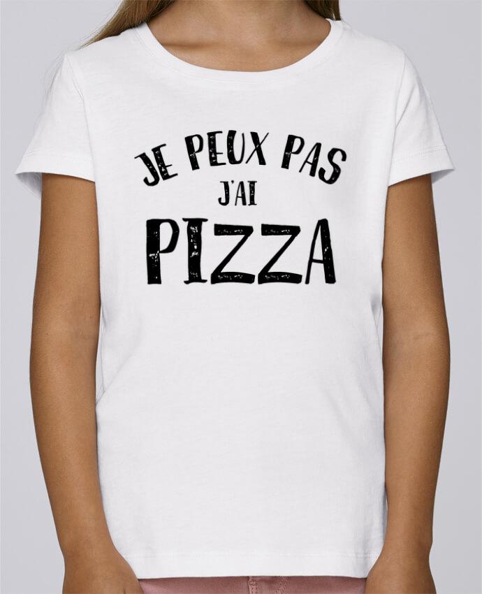 T-shirt Fille Mini Stella Draws Je peux pas j'ai Pizza par NumericEric