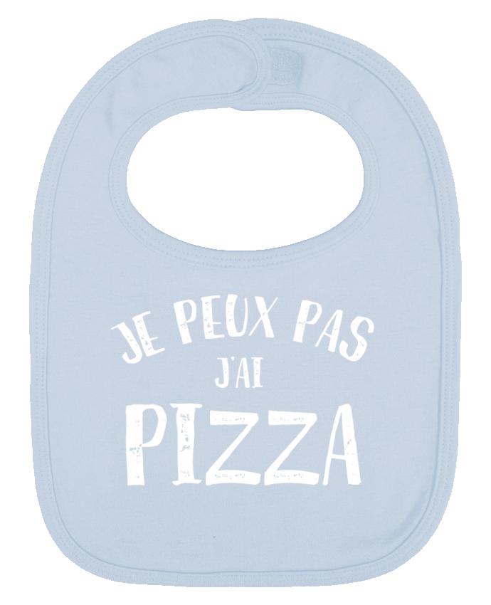Bavoir Uni et Contrasté Je peux pas j'ai Pizza par NumericEric