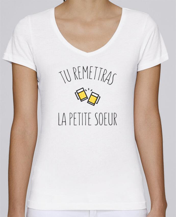 T-shirt Femme Col V Stella Chooses Tu me remettras la petite soeur par tunetoo
