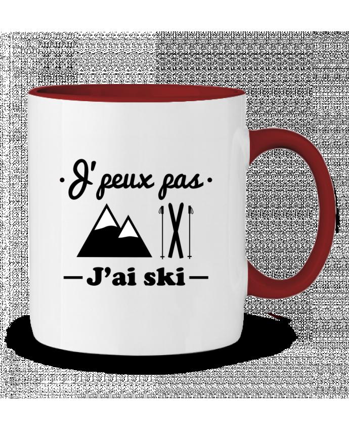 Mug en Céramique Bicolore J'peux pas j'ai ski Benichan