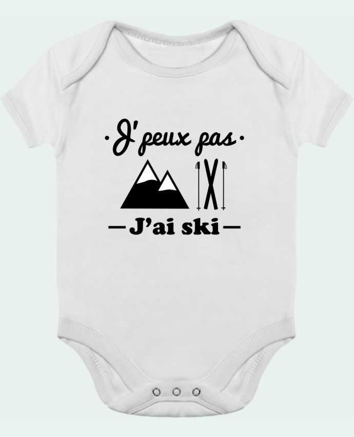 Body Bébé Contrasté J'peux pas j'ai ski par Benichan