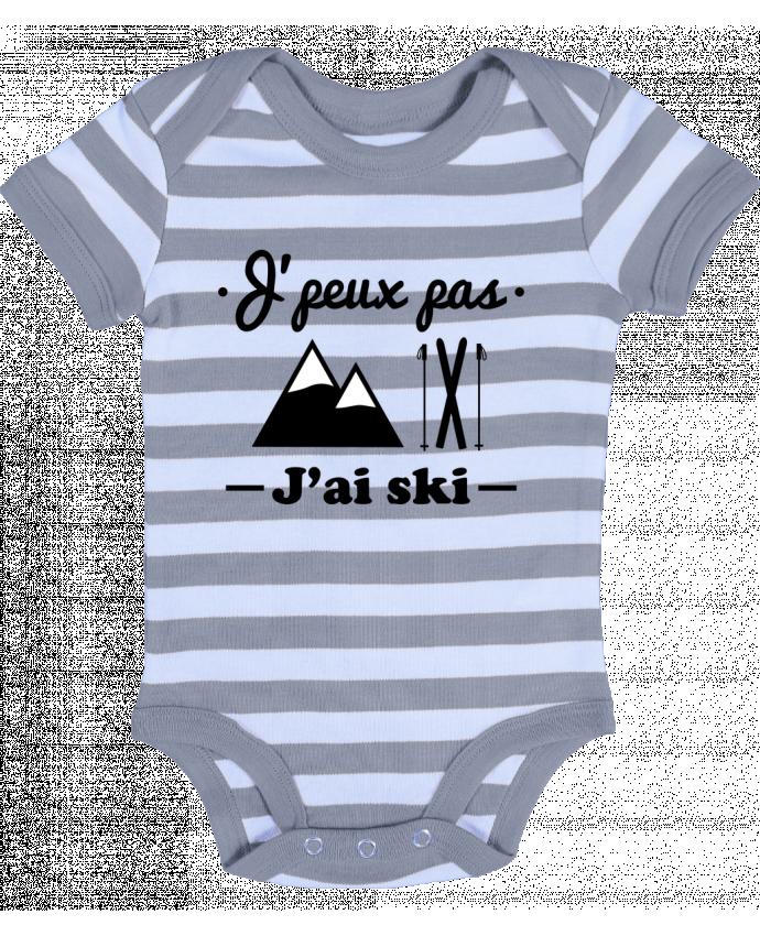 Body Bébé à Rayures J'peux pas j'ai ski - Benichan