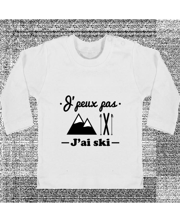T-shirt Bébé Manches Longues Boutons Pression J'peux pas j'ai ski manches longues du designer Benichan