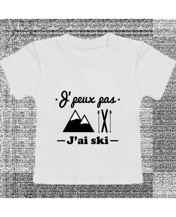 T-Shirt Bébé Manches Courtes J'peux pas j'ai ski manches courtes du designer Benichan