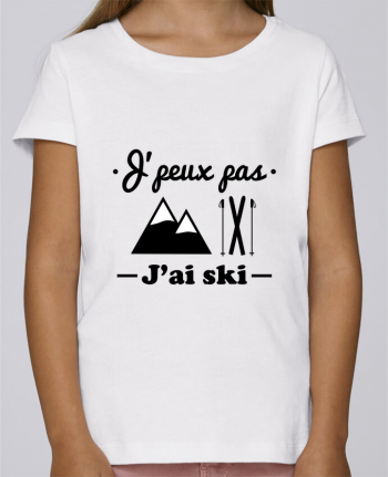 T-shirt Fille Mini Stella Draws J'peux pas j'ai ski par Benichan