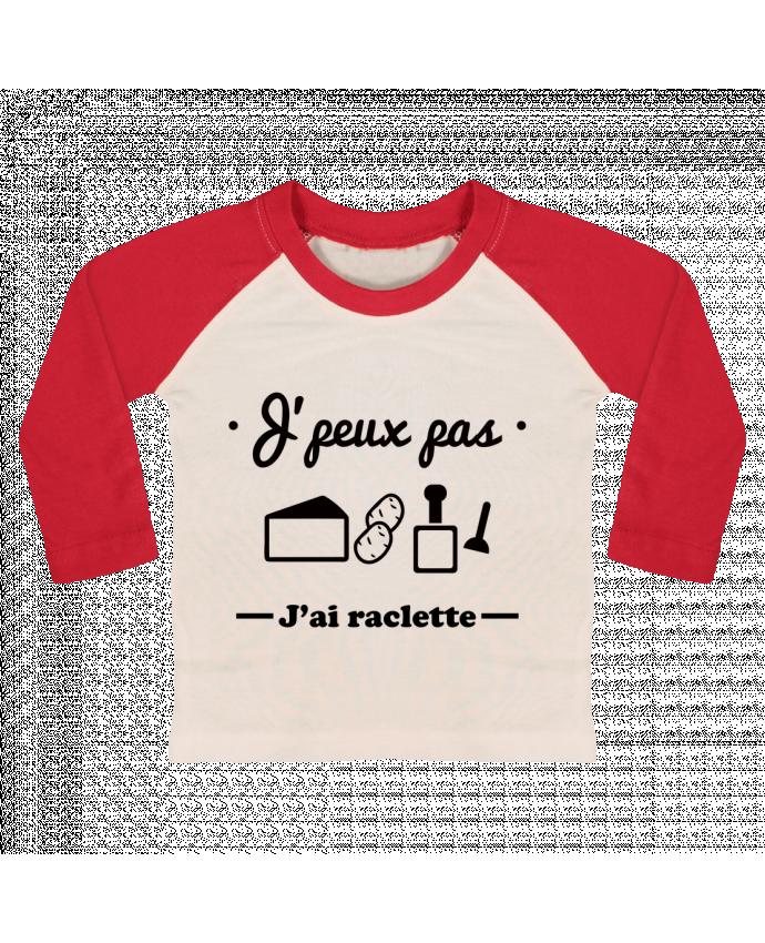 T-shirt Bébé Baseball Manches Longues J'peux pas j'ai raclette par Benichan