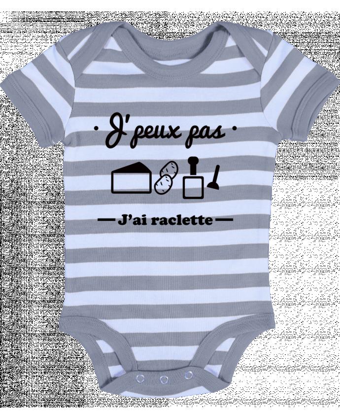 Body Bébé à Rayures J'peux pas j'ai raclette - Benichan