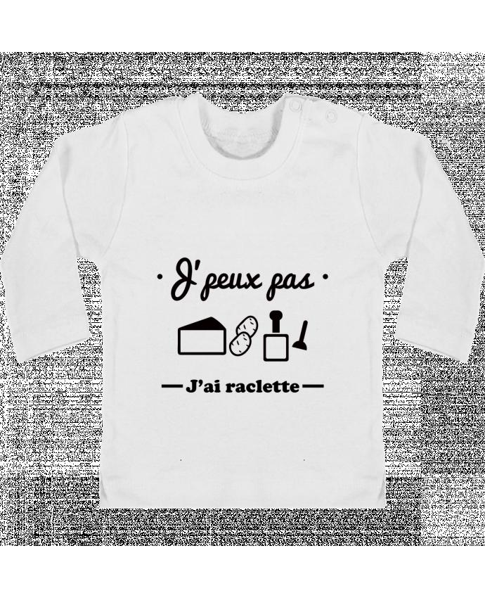 T-shirt bébé J'peux pas j'ai raclette manches longues du designer Benichan