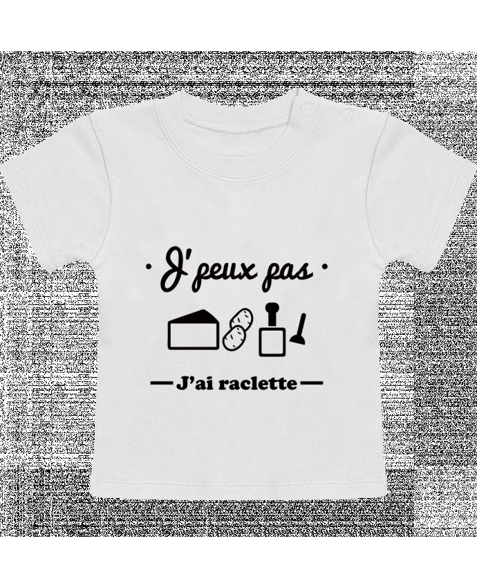 T-Shirt Bébé Manches Courtes J'peux pas j'ai raclette manches courtes du designer Benichan