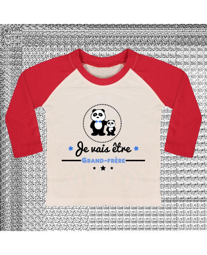 T-shirt Bébé Baseball Manches Longues Bientôt grand-frère - futur grand frère par Benichan