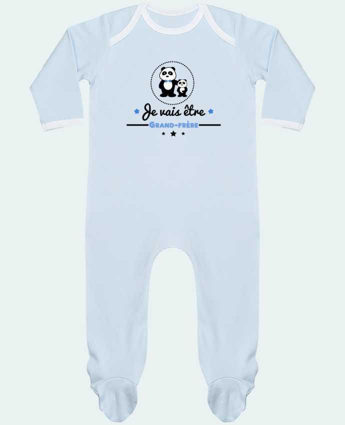 Pyjama Bébé Manches Longues Contrasté Bientôt grand-frère - futur grand frère par Benichan