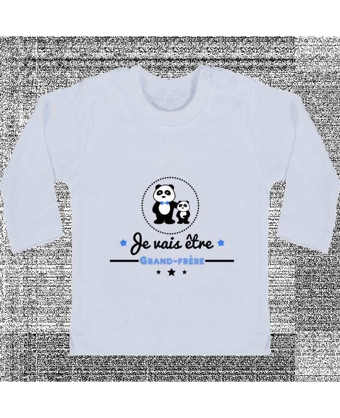 T-shirt Bébé Manches Longues Boutons Pression Bientôt grand-frère - futur grand frère manches longues du designer Benichan