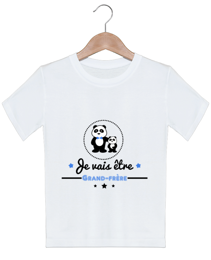 T-shirt garçon motif Bientôt grand-frère - futur grand frère Benichan