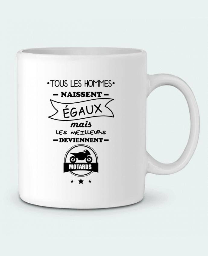Mug en Céramique Tous les hommes ... les meilleurs deviennent motard, moto par Benichan