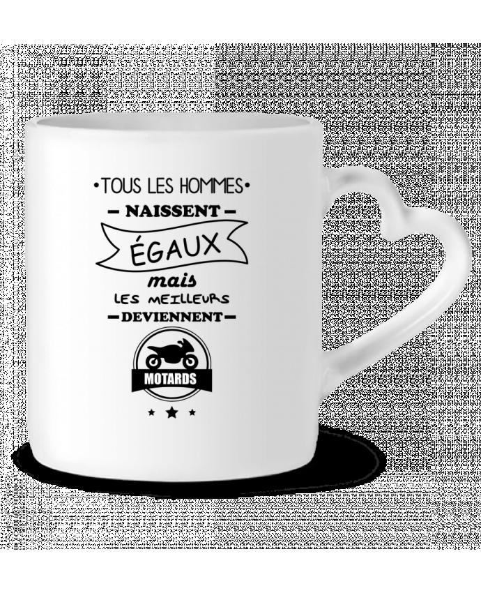 Mug Coeur Tous les hommes ... les meilleurs deviennent motard, moto par Benichan