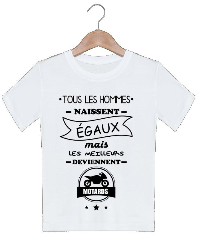 T-shirt garçon motif Tous les hommes ... les meilleurs deviennent motard, moto Benichan