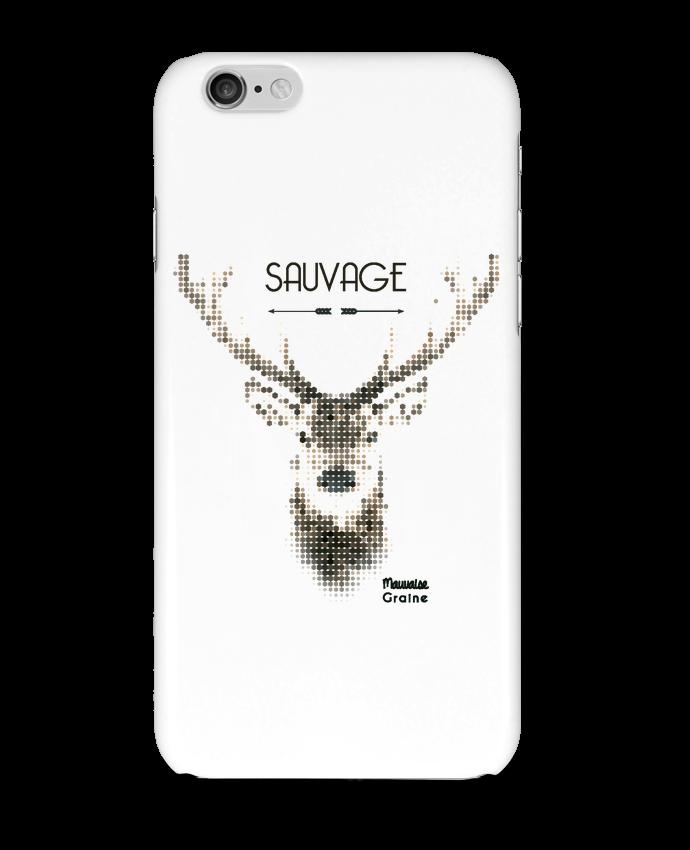 Coque 3D Iphone 6 Tête de cerf sauvage par Mauvaise Graine