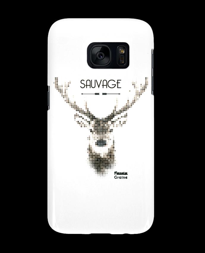 Coque 3D Samsung Galaxy S7 Tête de cerf sauvage par Mauvaise Graine