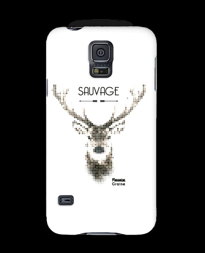 Coque 3D Samsung Galaxy S5 Tête de cerf sauvage par Mauvaise Graine